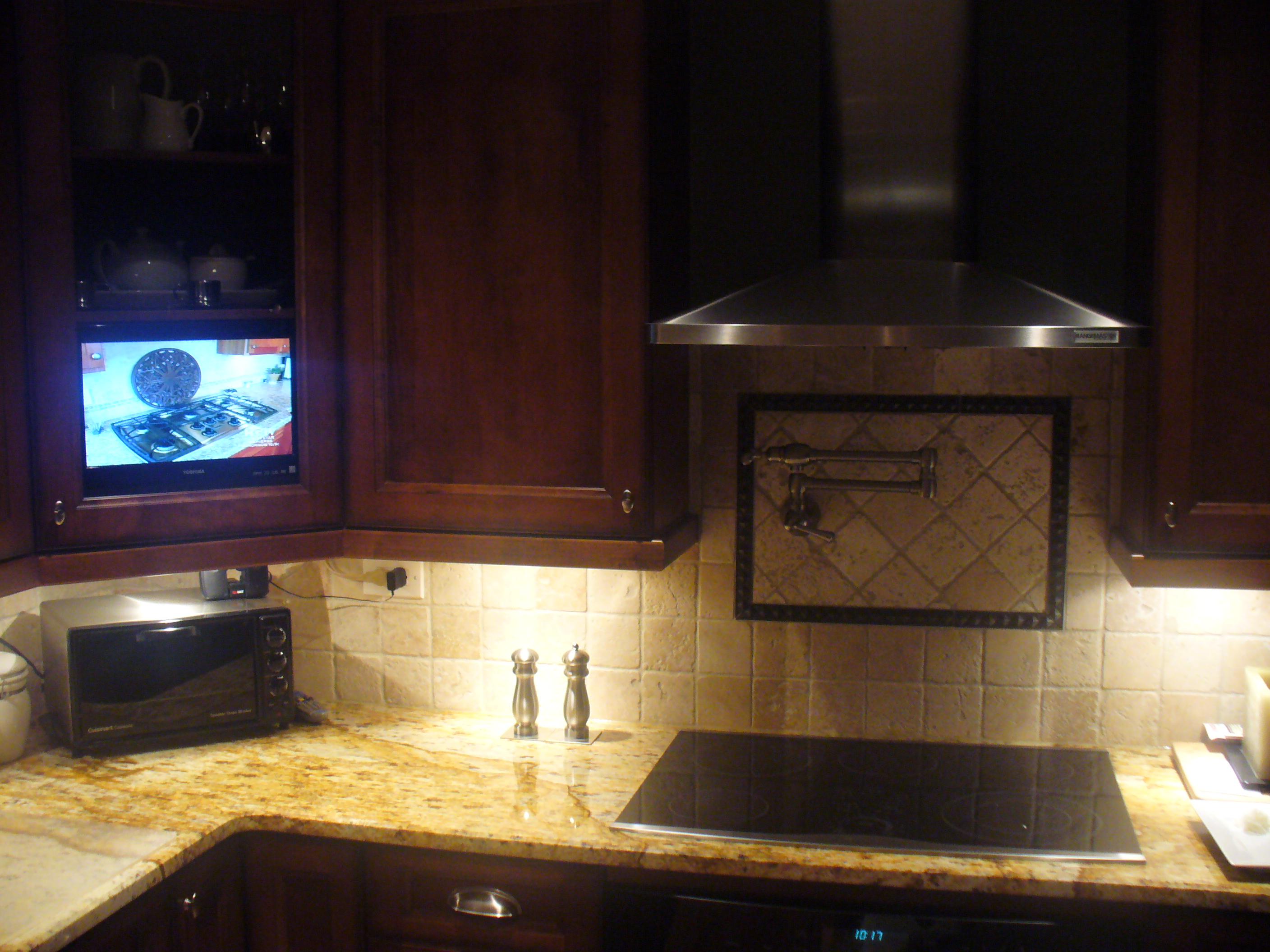 Tv In Kitchen Tv Kitchen Cabinet