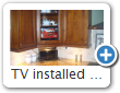 TV installed in kitchen cabinet